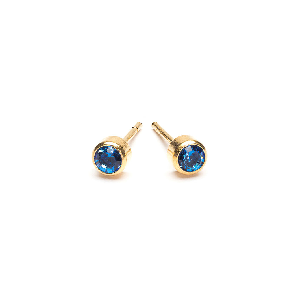 September Birthstone 14k Gold Plated Earrings - Simply Whispers
