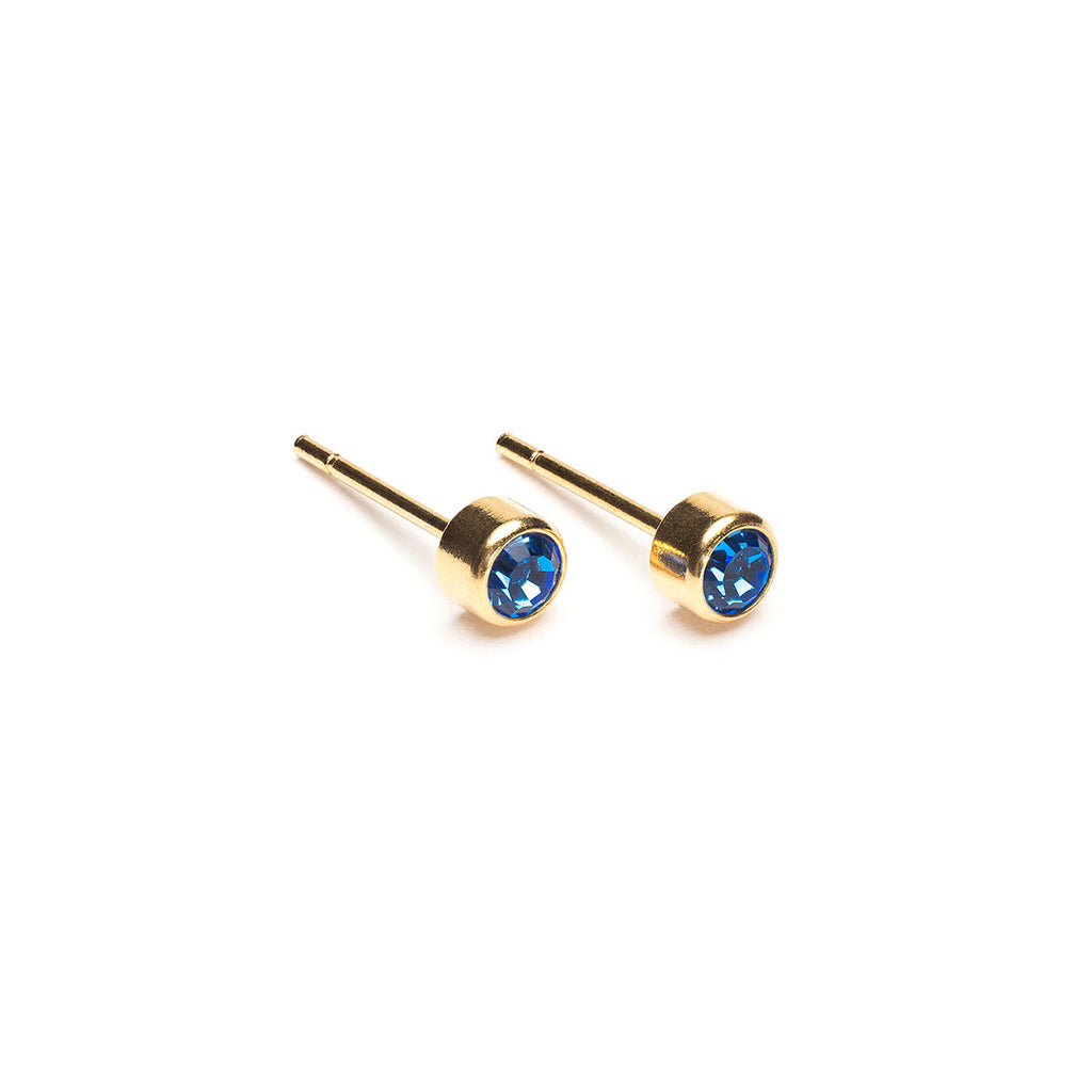 September Birthstone Gold Plated Earrings - Simply Whispers