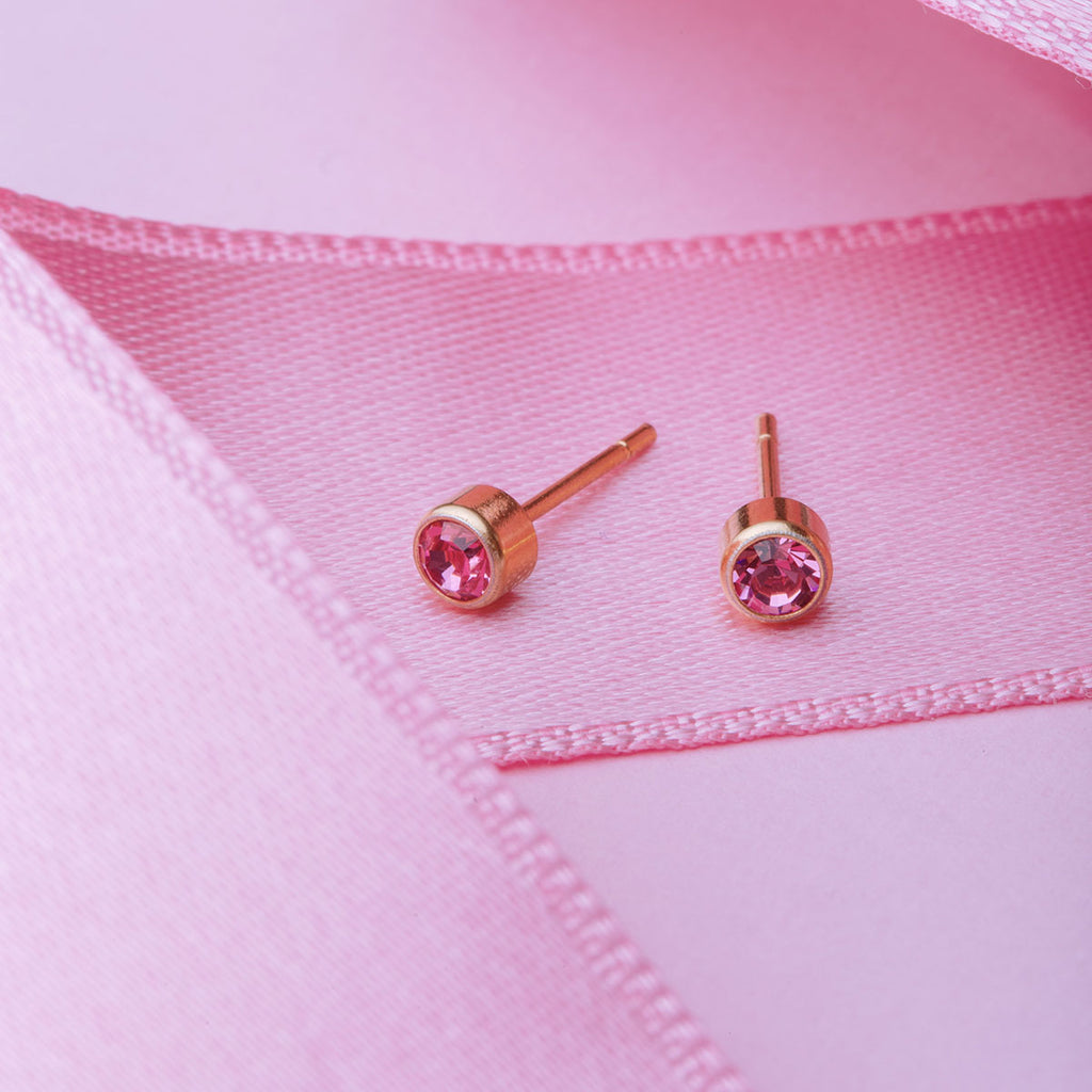 October Birthstone 14k Gold Plated Earrings - Simply Whispers