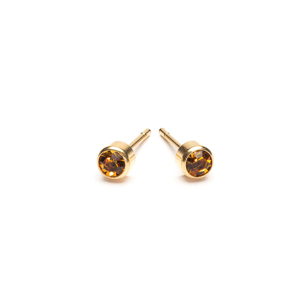 November Birthstone 14k Gold Plated Earrings - Simply Whispers