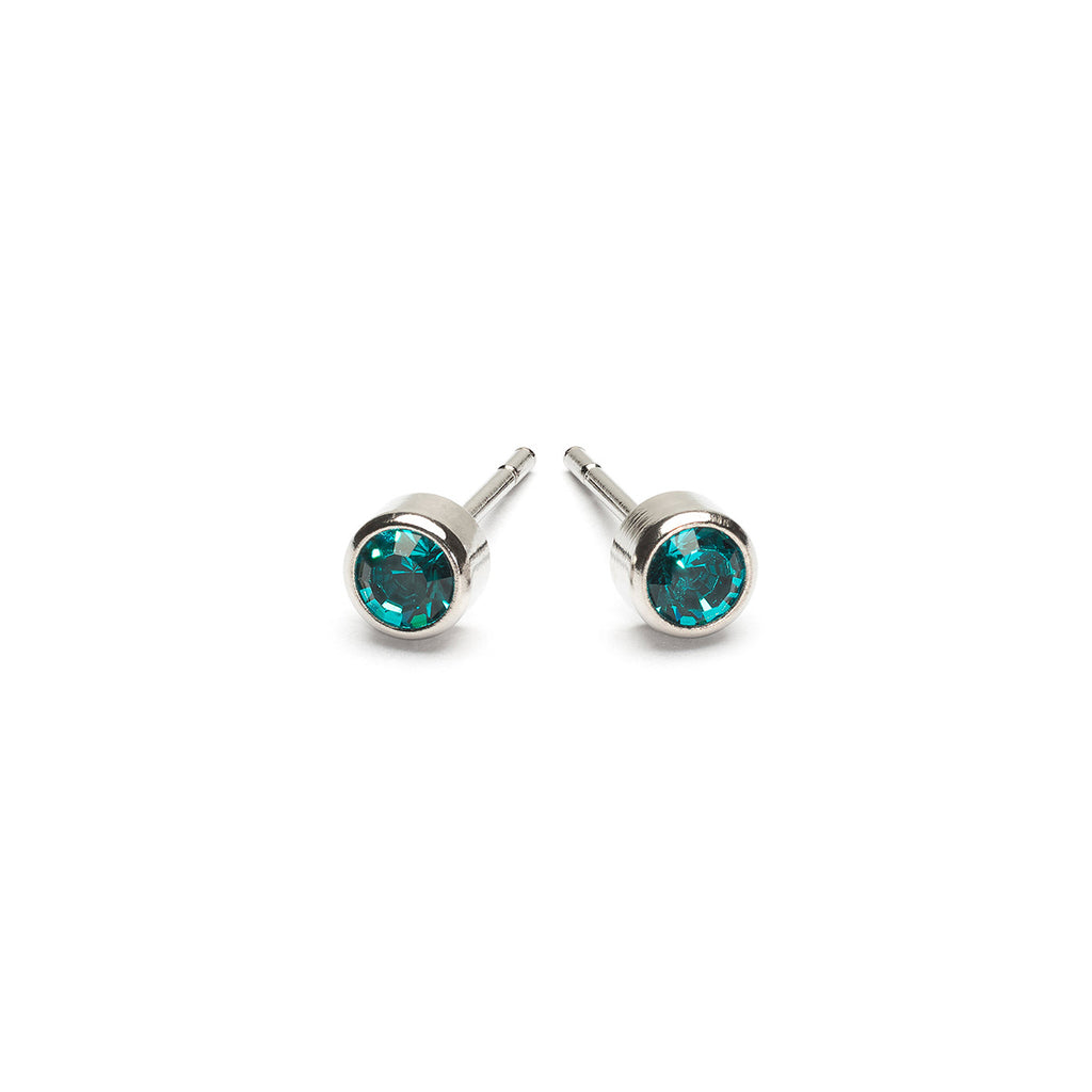 Stainless Steel 3 mm December Birthstone Stud Earrings - Simply Whispers