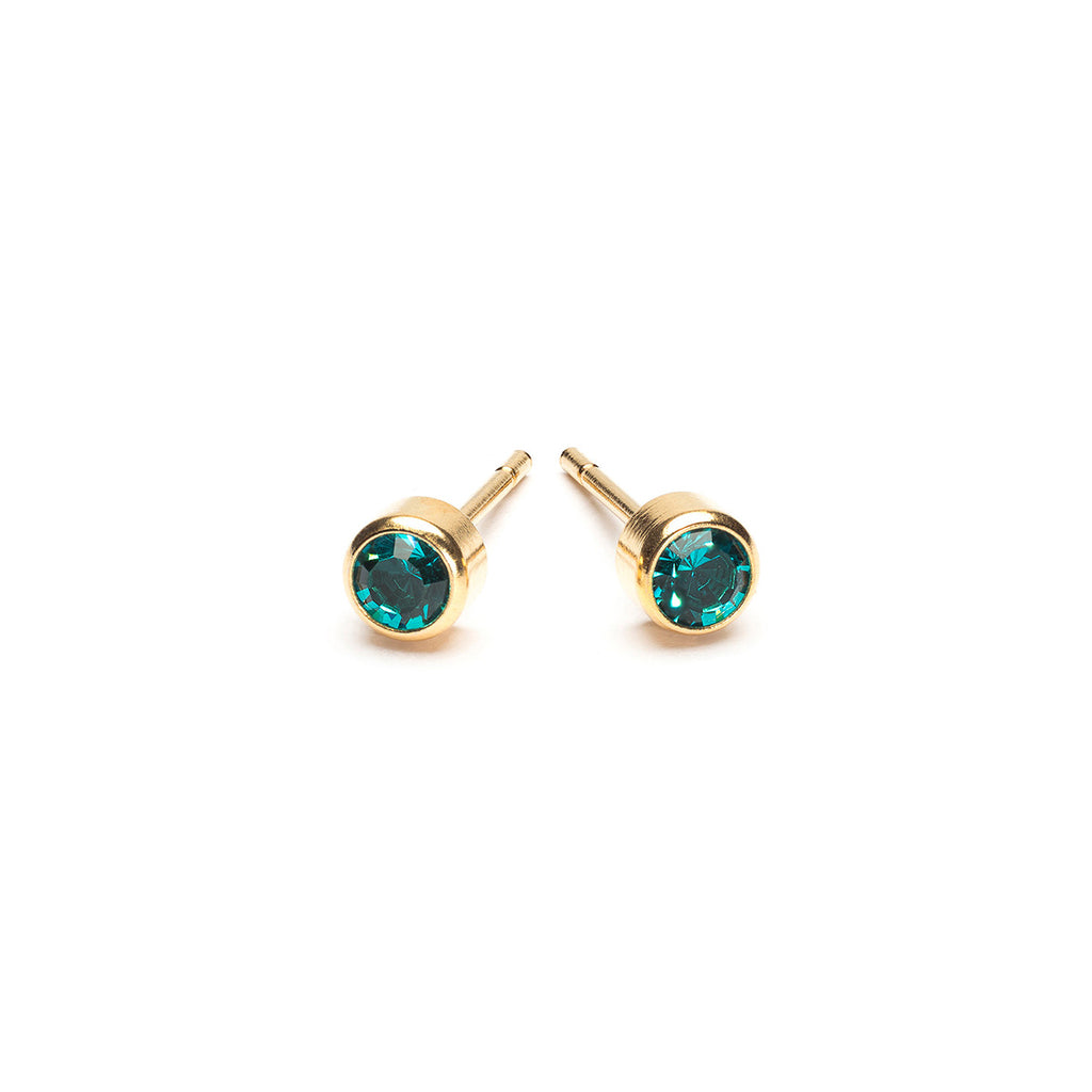 December Birthstone 14k Gold Plated Earrings - Simply Whispers