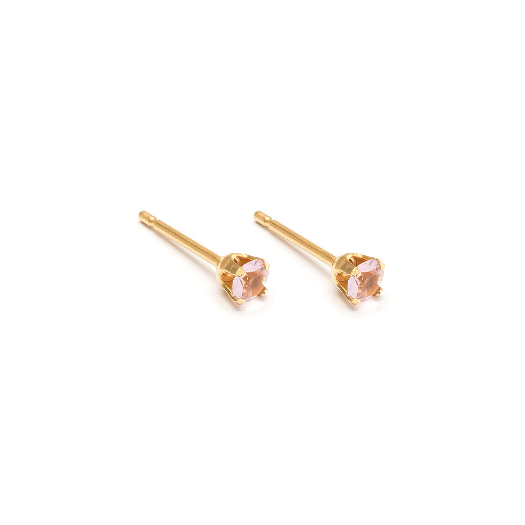 June Birthstone 14k Gold Plated Stud Earrings - Simply Whispers