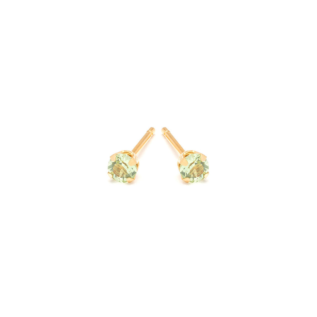 August Birthstone Gold Plated Stud Earrings - Simply Whispers