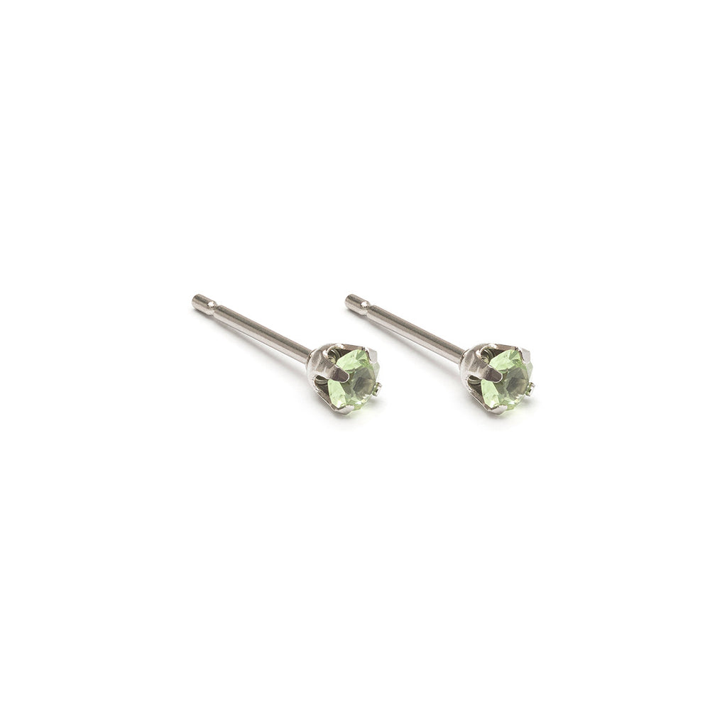 August Birthstone Stainless Steel Stud Earrings - Simply Whispers