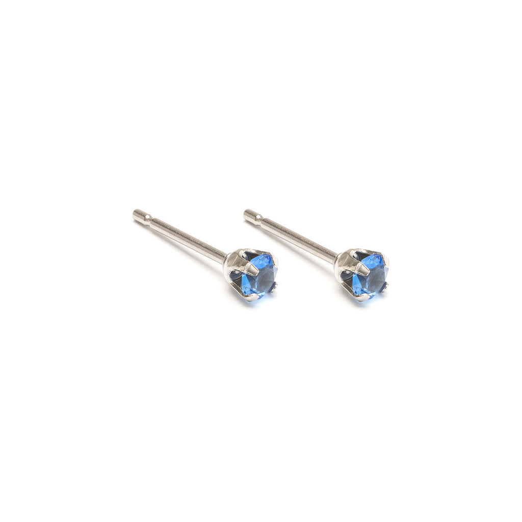 September Birthstone Stainless Steel Stud Earrings - Simply Whispers