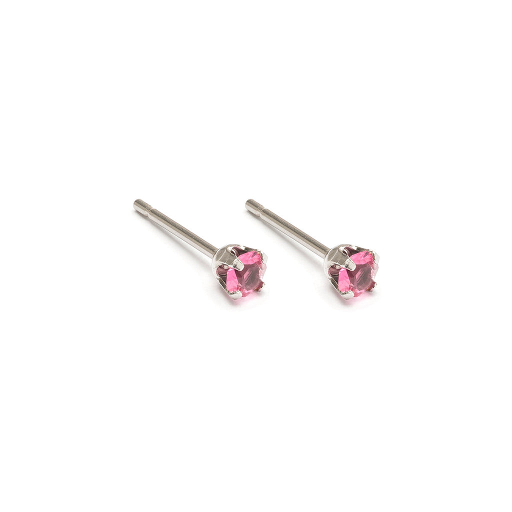 October Birthstone Stainless Steel Stud Earrings