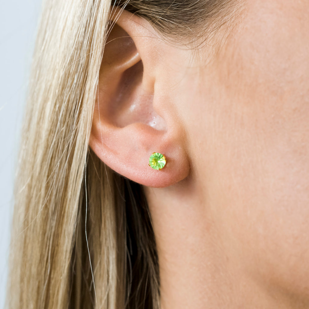 Gold Plated 5 mm August Birthstone Stud Earrings - Simply Whispers