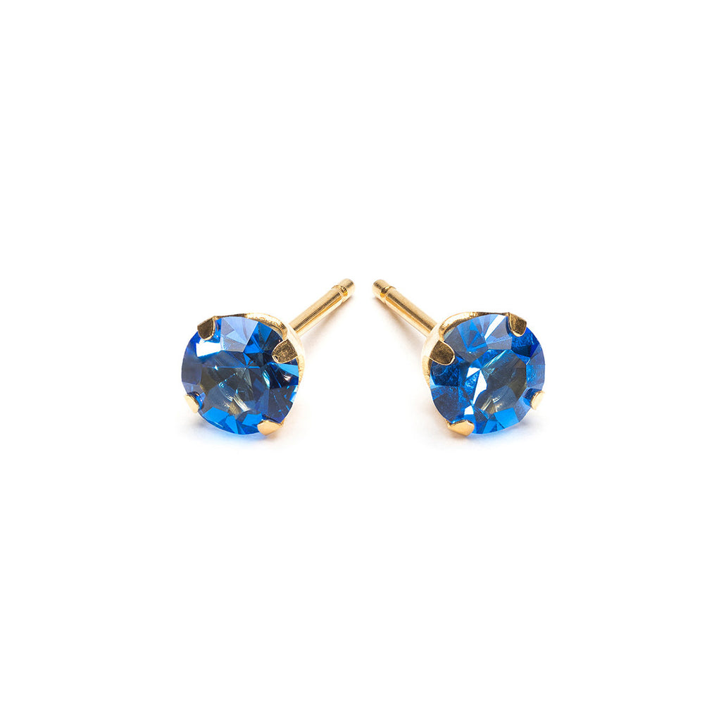 Gold Plated 5 mm September Birthstone Stud Earrings - Simply Whispers