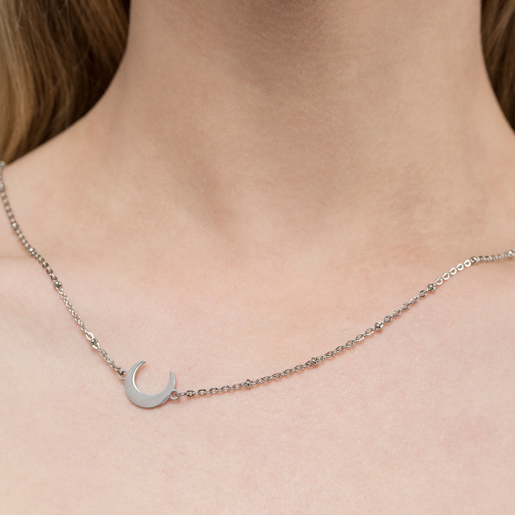 Luna Moon Satellite Necklace - Simply Whispers