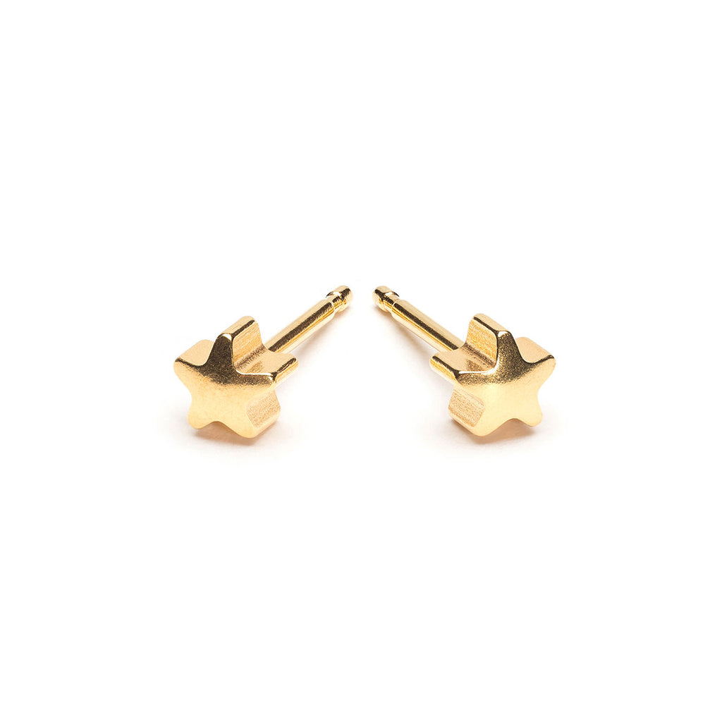 Gold Plated Star Stud Earrings - Simply Whispers