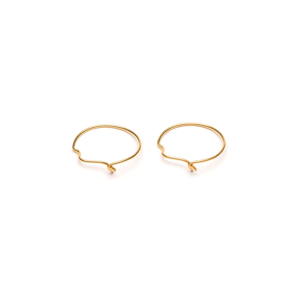 Gold Plated Small Continuous Hoop Earrings - Simply Whispers