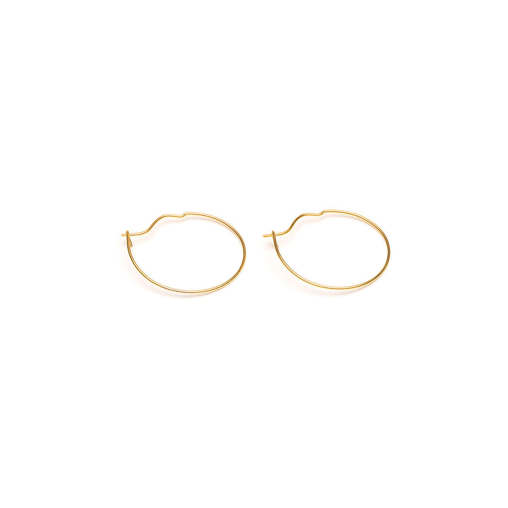 Small Hoop Earrings Gold Plated - Simply Whispers