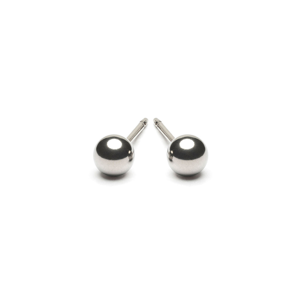 Stainless Steel 4 mm Ball Stud Earrings - Simply Whispers