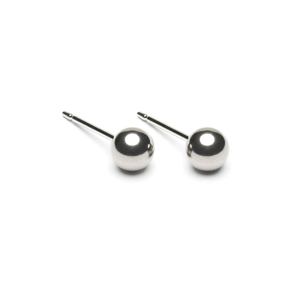 Stainless Steel 5 mm Ball Stud Earrings - Simply Whispers