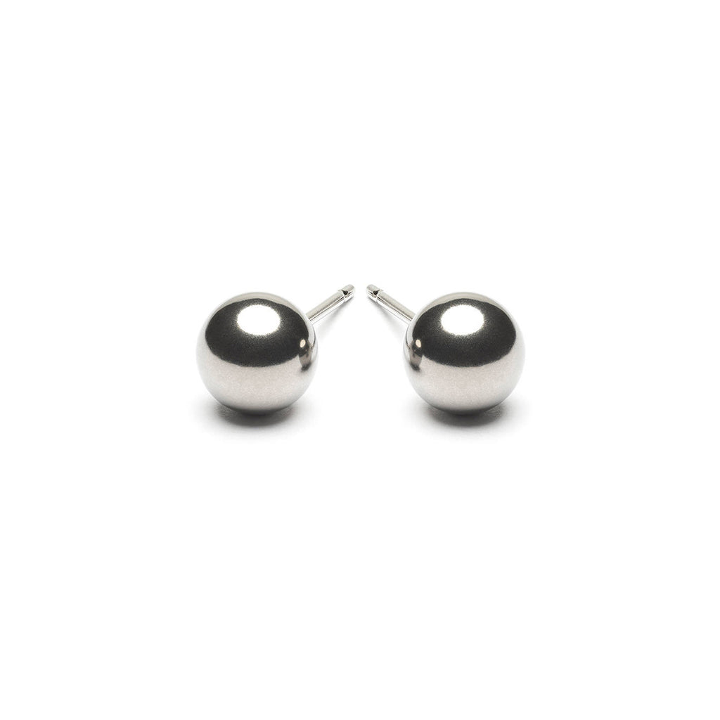 Stainless Steel 6 mm Ball Stud Earrings - Simply Whispers