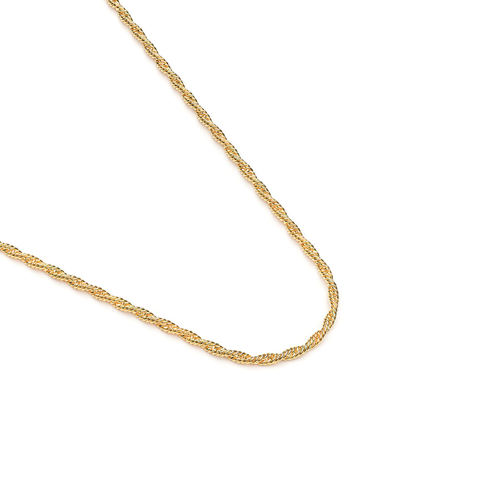 Gold Plated 18 inch Thin Rope Chain Necklace - Simply Whispers