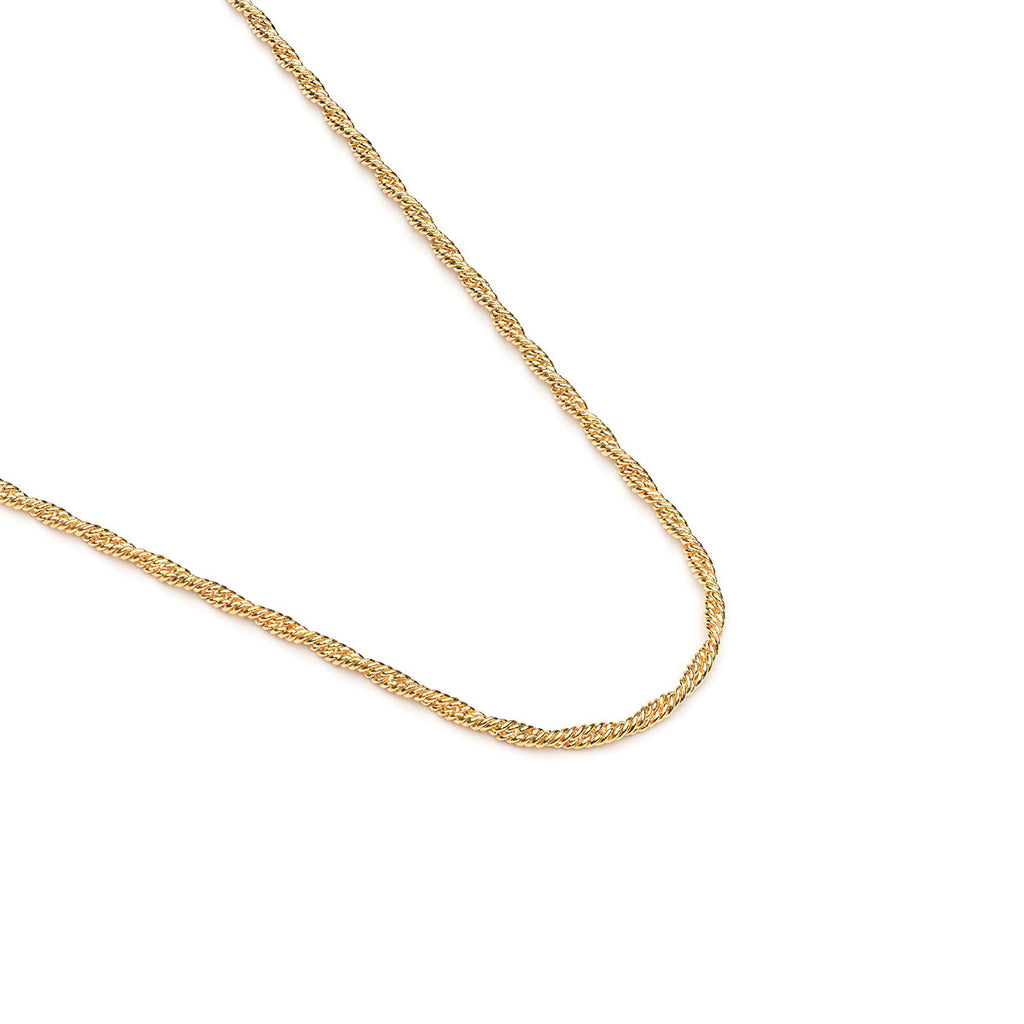 Gold Plated 24 Inch Thin Rope Chain Necklace - Simply Whispers