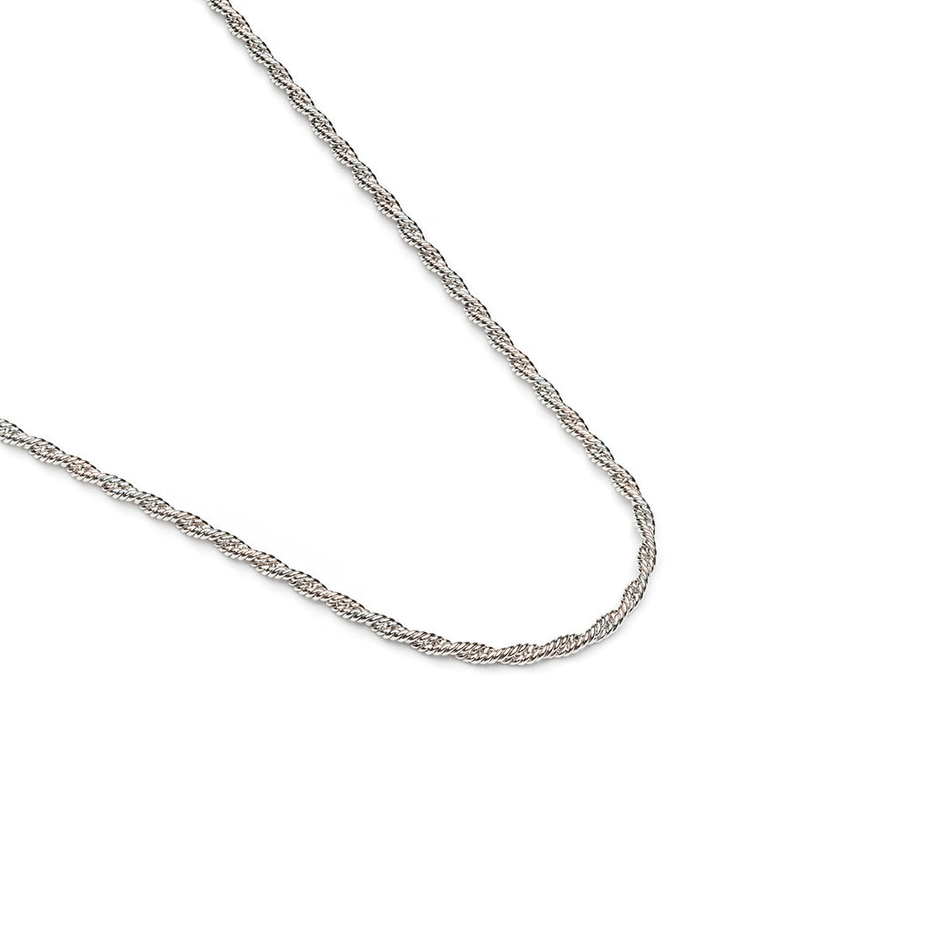 Silver Plated 18 inch Thin Rope Chain Necklace - Simply Whispers