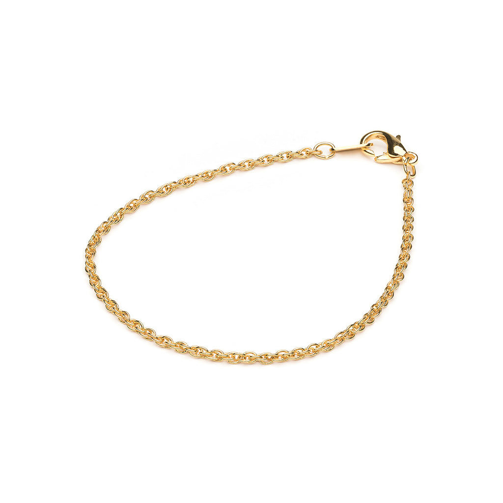 Gold Plated 7 inch Fancy Pendant Chain Bracelet - Simply Whispers