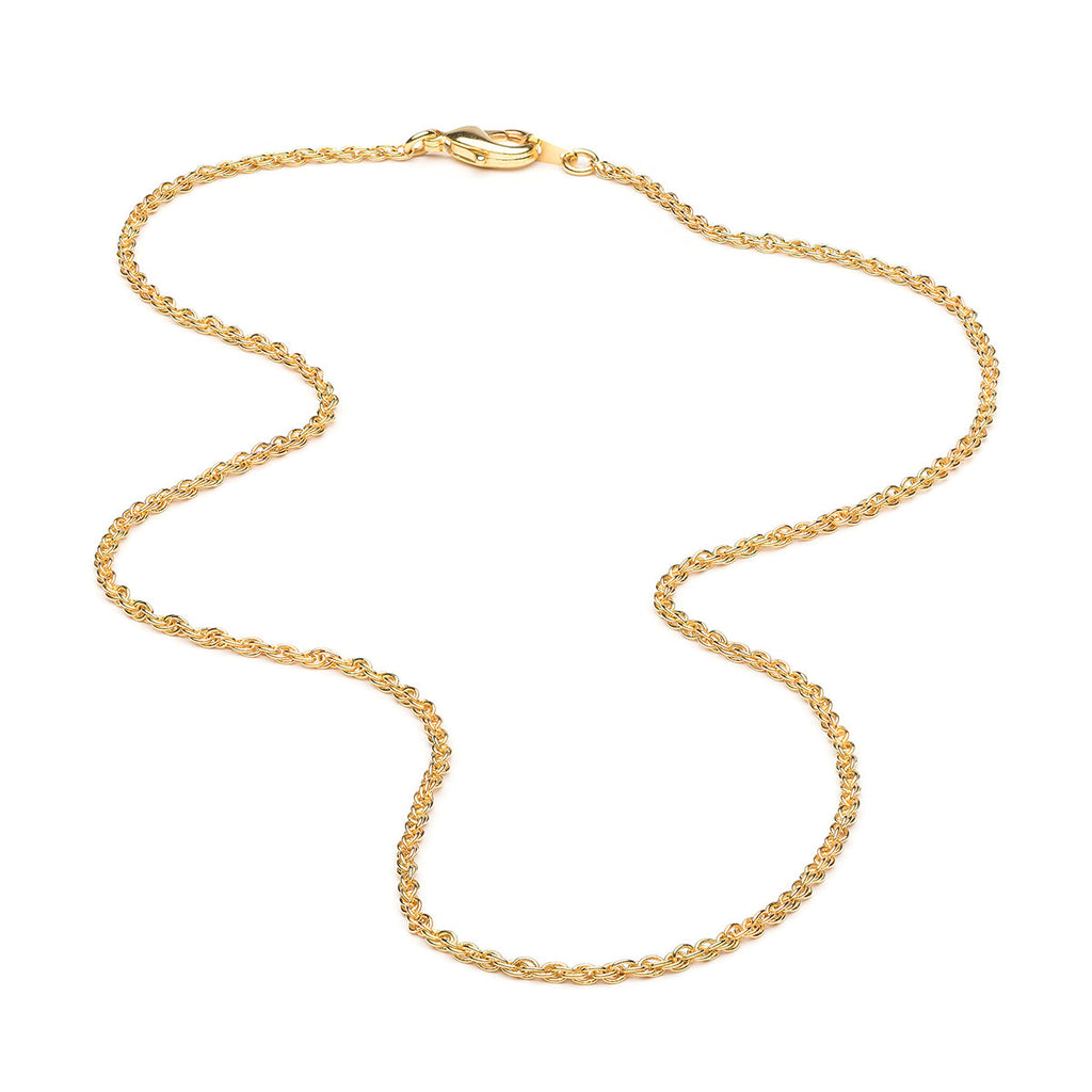 Gold Plated 18 inch Fancy Pendant Necklace - Simply Whispers