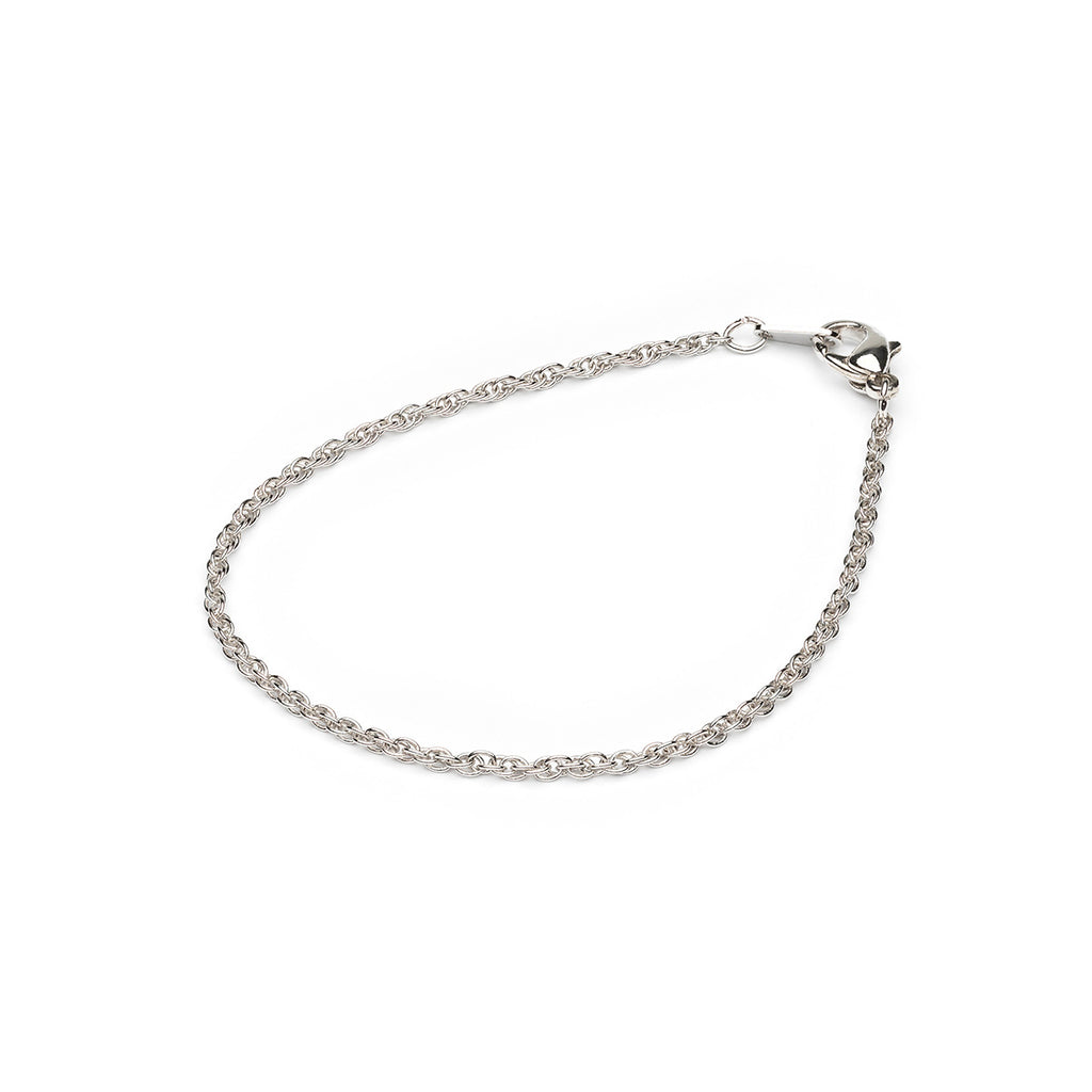 Silver Plated 7 inch Fancy Pendant Chain Bracelet - Simply Whispers