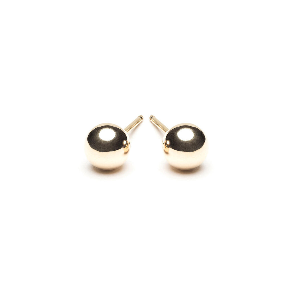 14k Gold 5 mm Ball Stud Earrings - Simply Whispers