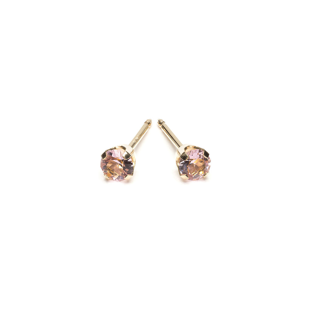 Gold 3 mm June Birthstone Stud Earrings - Simply Whispers