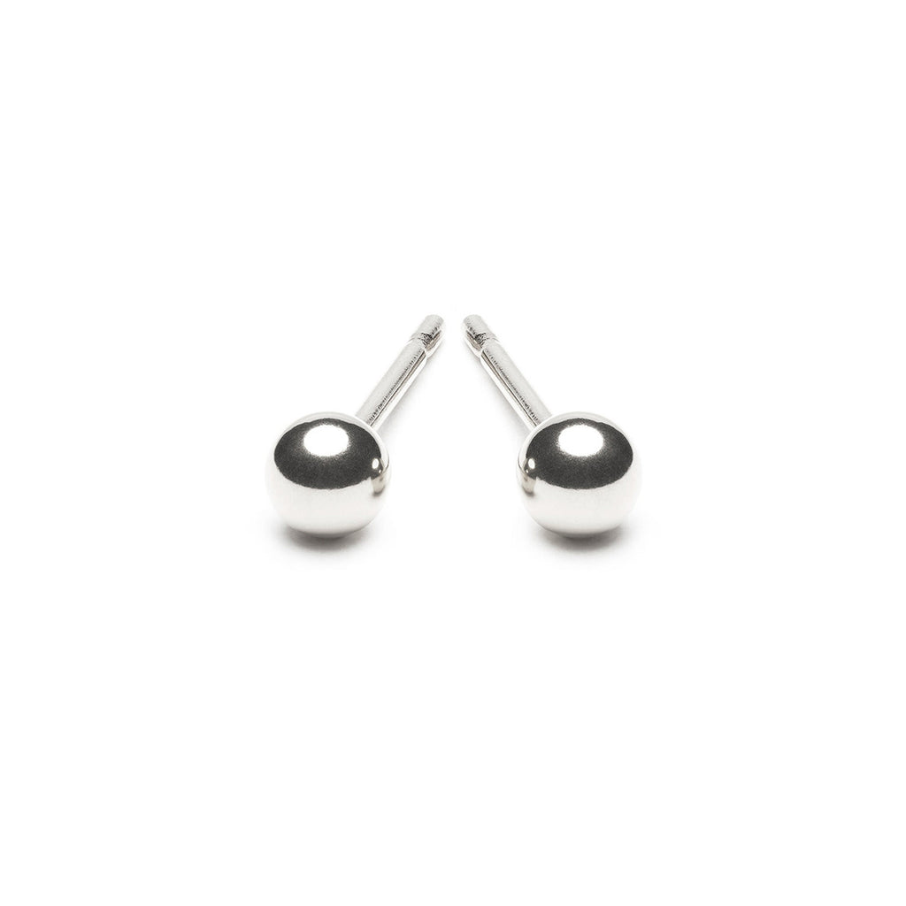 925 Sterling Silver 4 mm Ball Stud Earrings - Simply Whispers