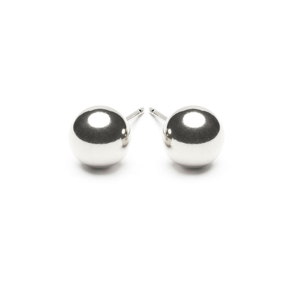 925 Sterling Silver 8 mm Ball Stud Earrings - Simply Whispers