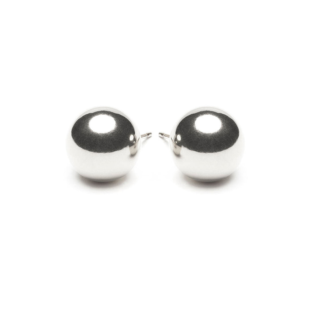Sterling Silver 10 mm Ball Stud Earrings - Simply Whispers