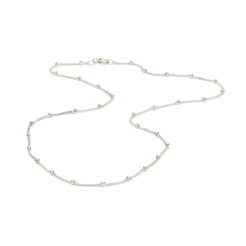925 Sterling Silver 16 inch Satellite Chain Necklace - Simply Whispers