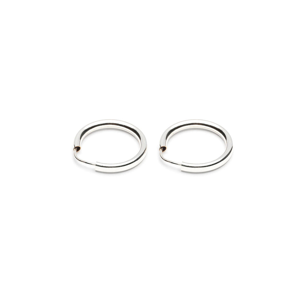 Silver Small Endless Hoop Earrings - Simply Whispers