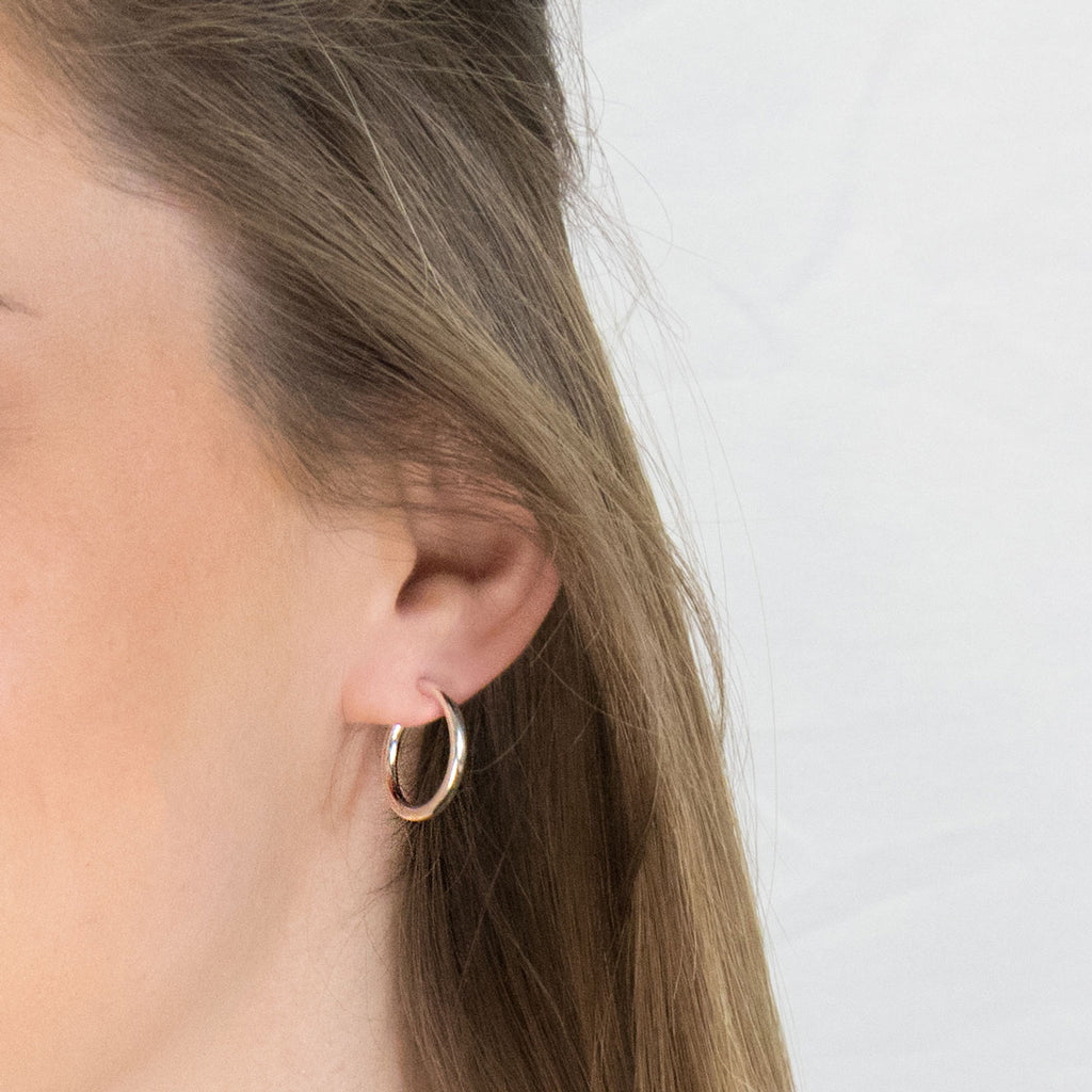 Sterling Silver Small Hoop Earrings - Simply Whispers