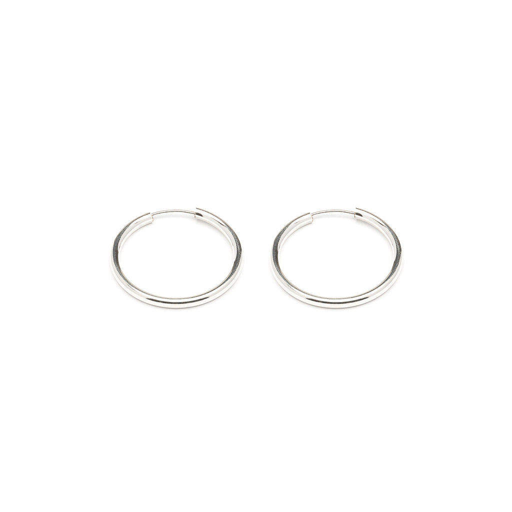Sterling Silver 1 inch Hoop Earrings - Simply Whispers