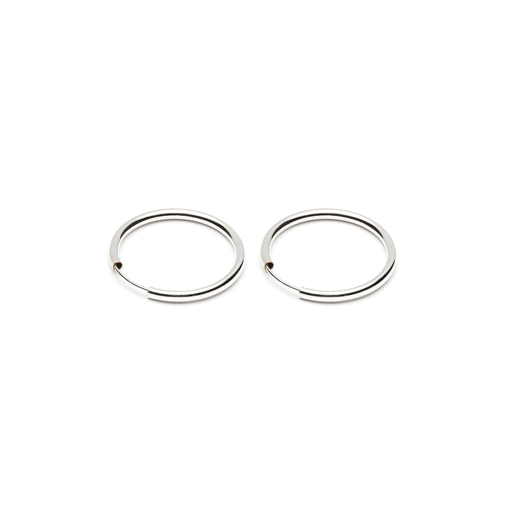 Silver Medium Endless Hoop Earrings - Simply Whispers