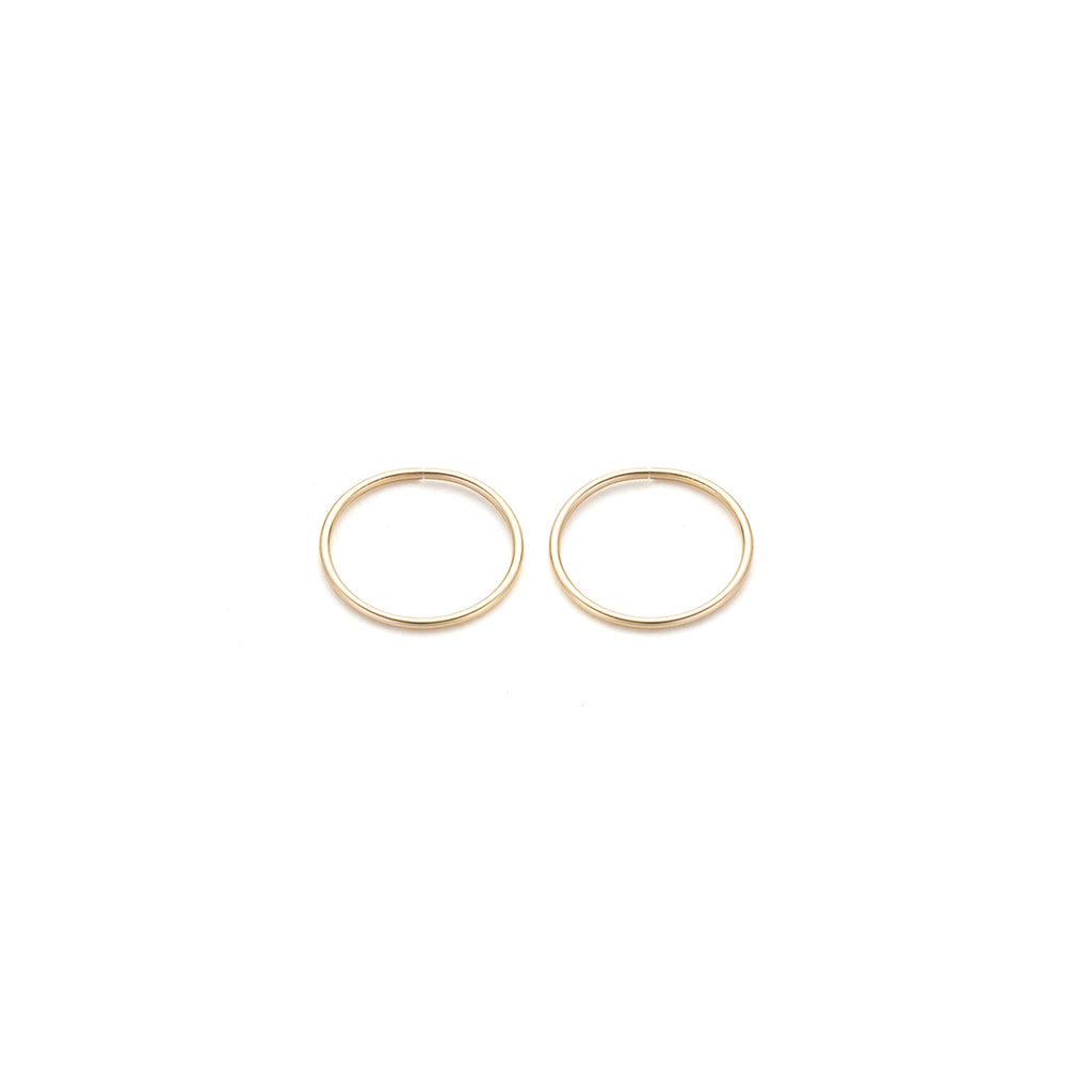 Gold Hoop Earrings Jump Ring 10 mm - Simply Whispers