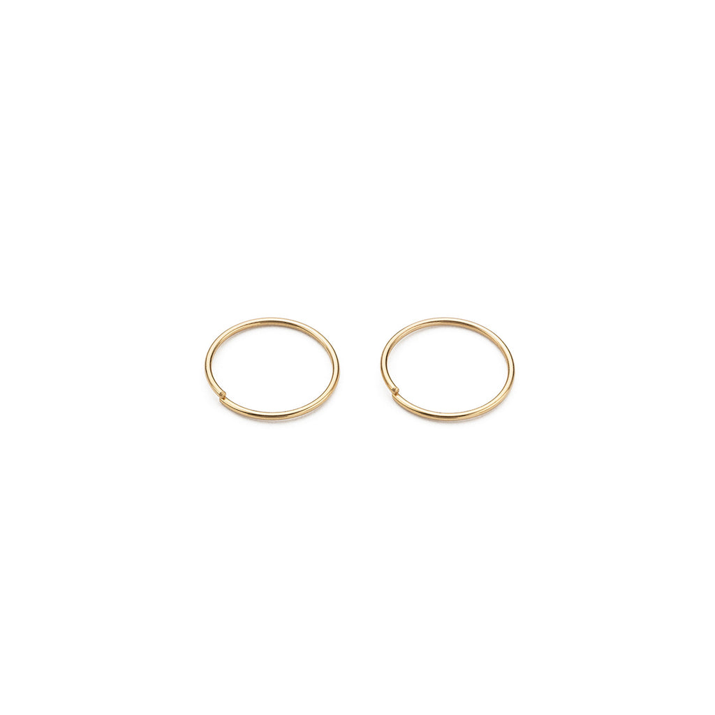 14 K Gold  Jump Ring Closure 10 mm Hoop Earrings - Simply Whispers