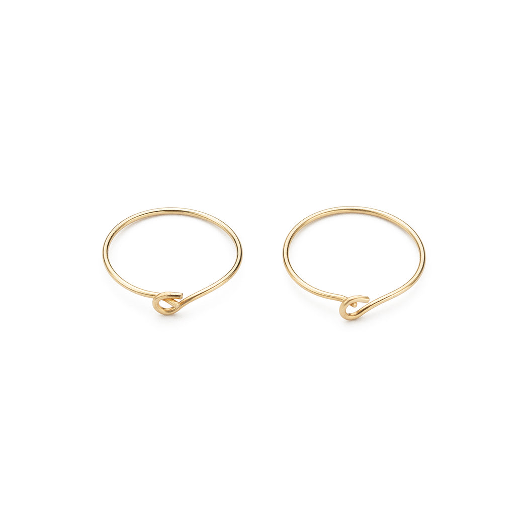 14k Gold 12 mm Hoop Earrings - Simply Whispers