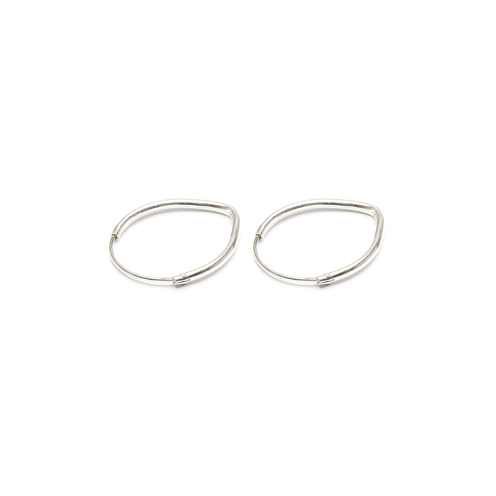 Sterling Silver Oval Hoop Earrings - Simply Whispers