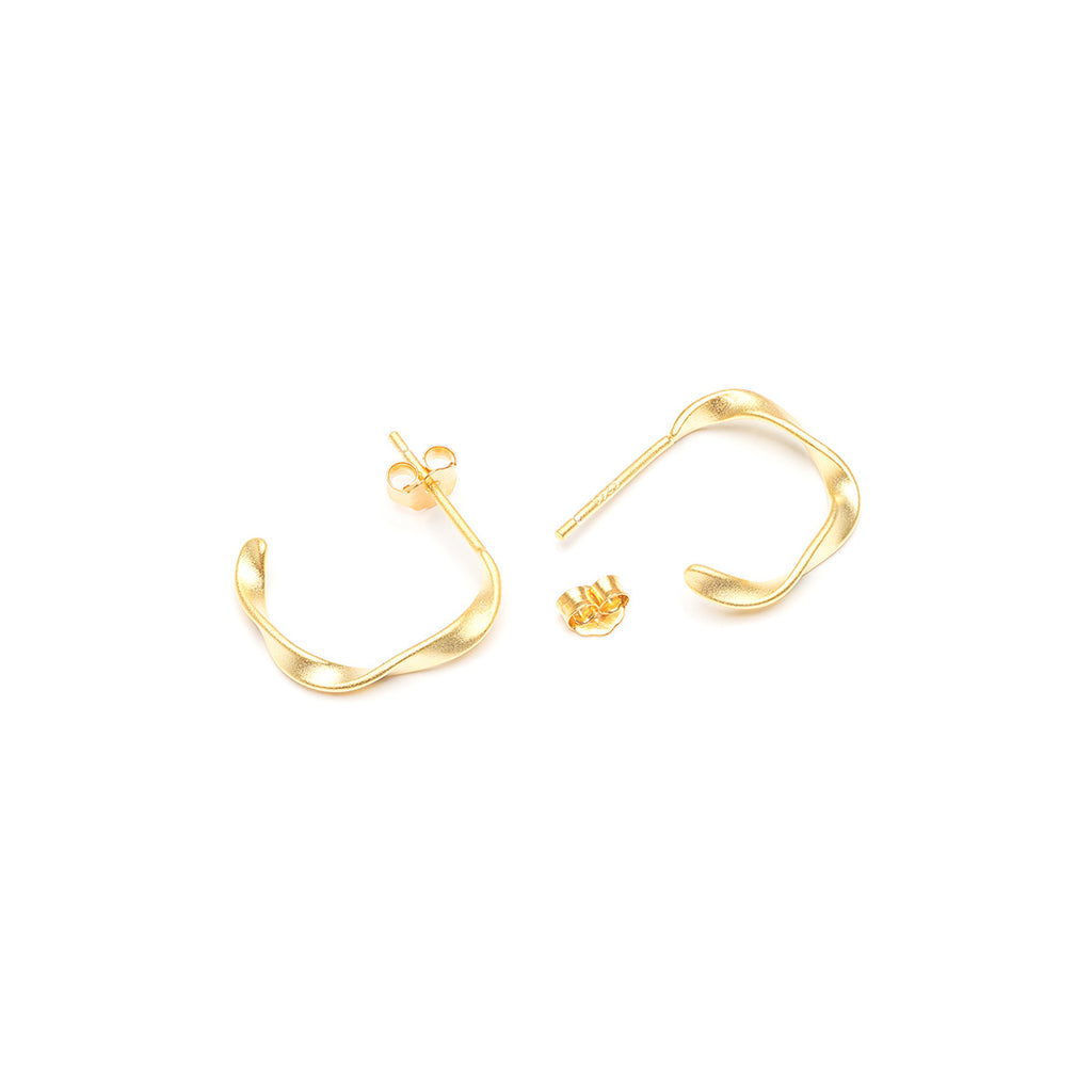 Small Twist Hoop Earrings - Simply Whispers