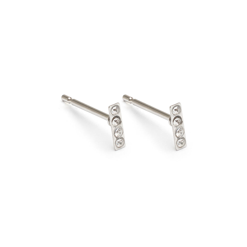 Mini Bar Stud Earrings - Simply Whispers