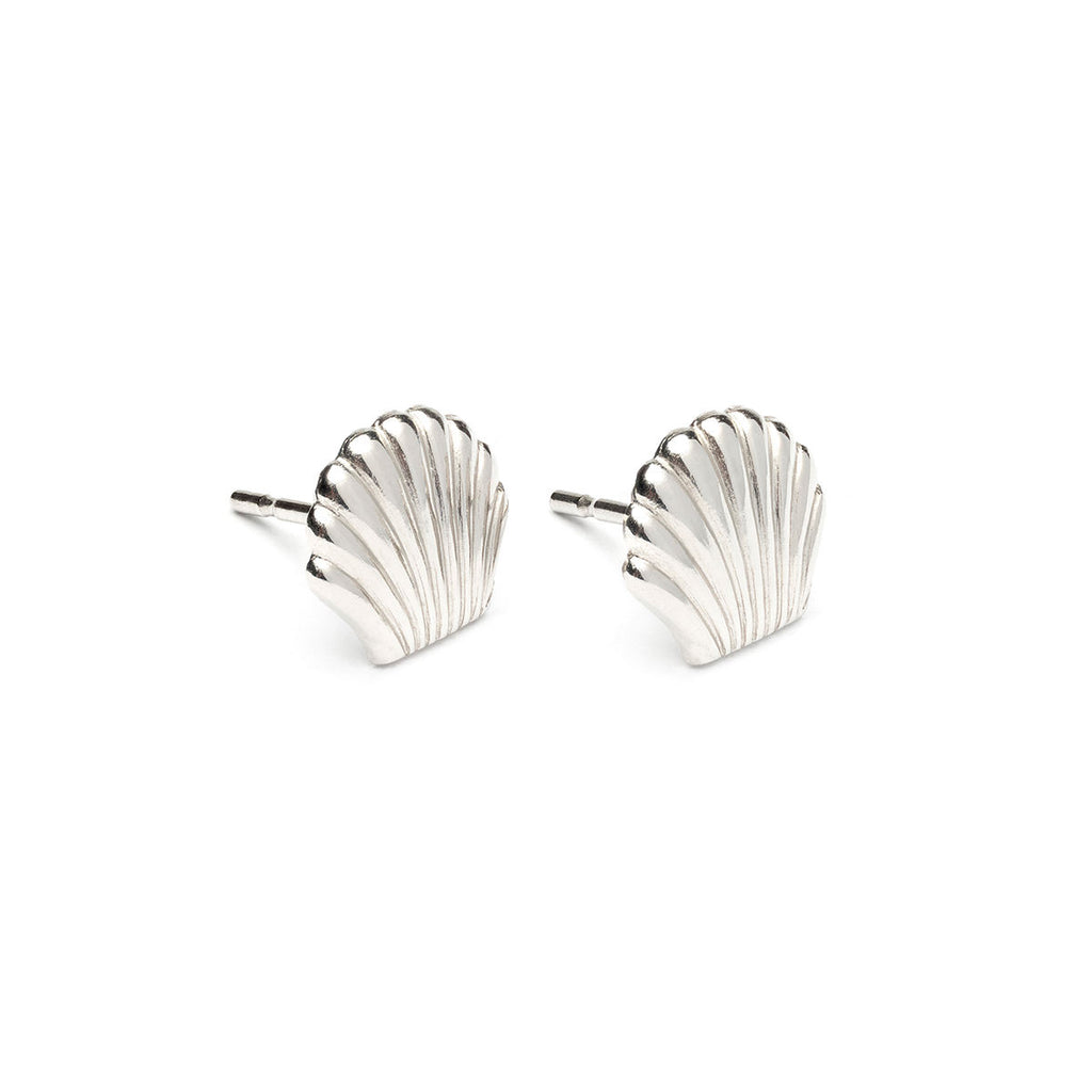 Stainless Steel Seashell Tiny Stud Earrings - Simply Whispers