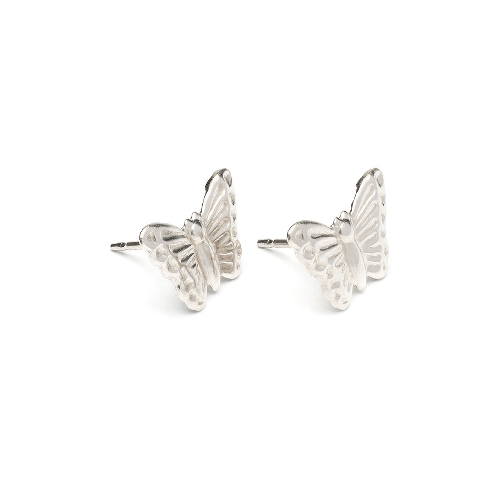 Stainless Steel Butterfly Stud Earrings - Simply Whispers