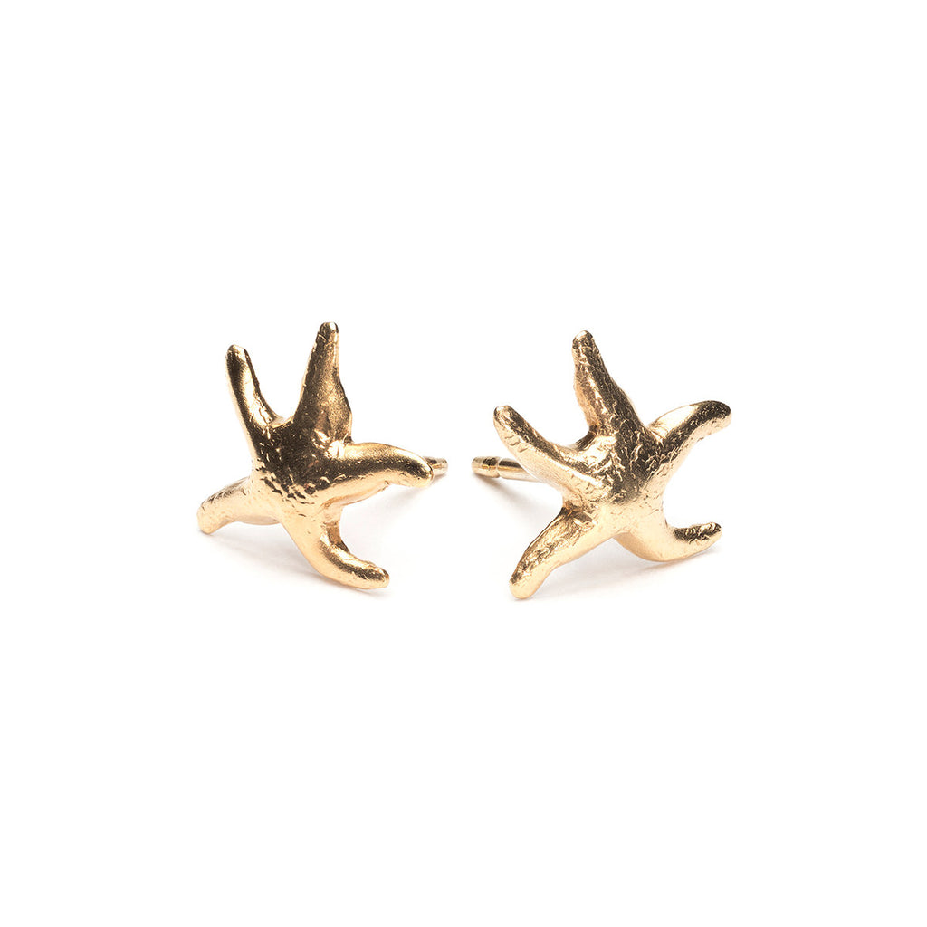 Gold Plated Starfish Stud Earrings - Simply Whispers