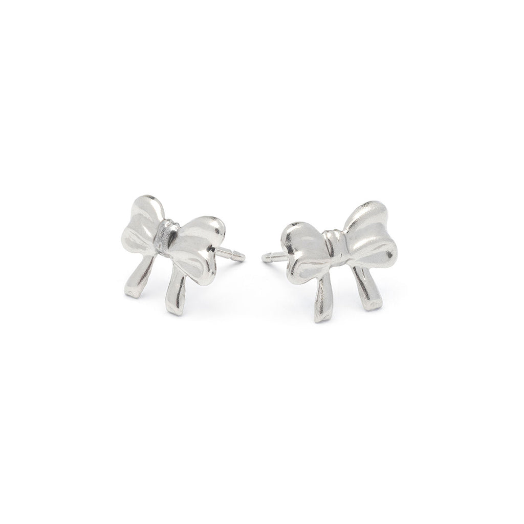 Stainless Steel Bow Stud Earrings - Simply Whispers