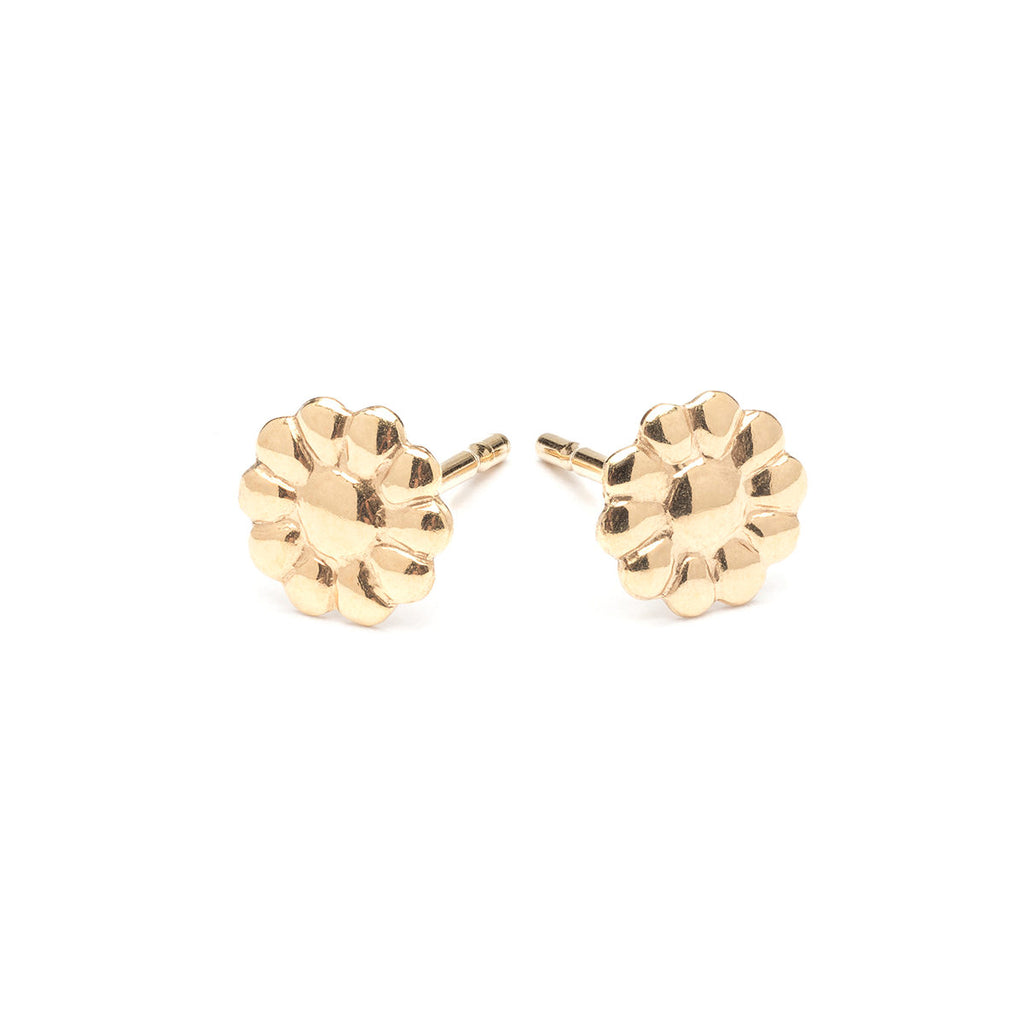 Gold Plated Little Daisy Stud Earrings - Simply Whispers