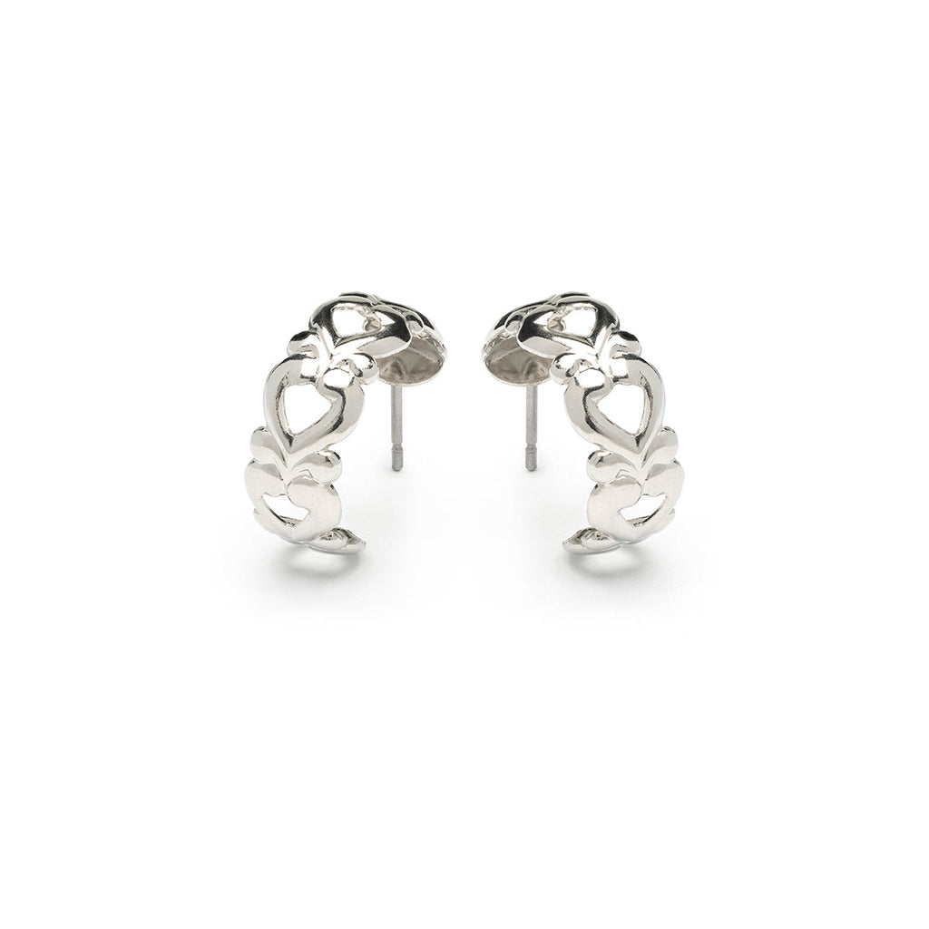 Stainless Steel Open Heart Hoop Earrings - Simply Whispers