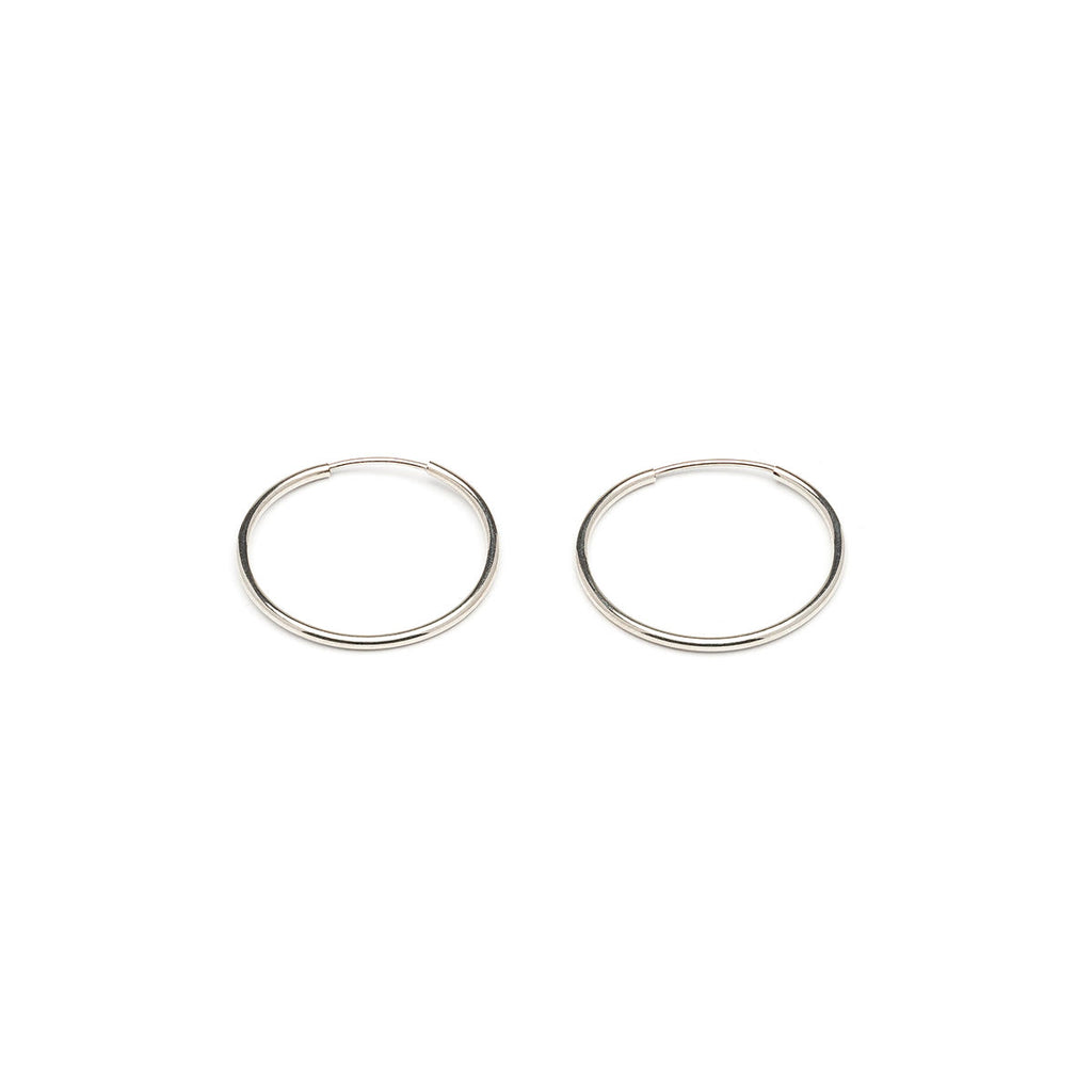 Small Endless Hoop Earrings Silver Plated - Simply Whispers