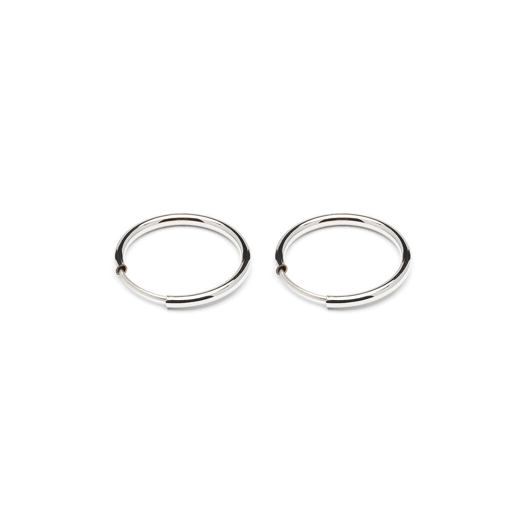Silver Plated Tiny Endless Hoop Earrings - Simply Whispers